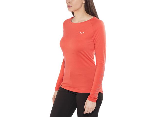 SALEWA Pedroc Delta Dry T-shirt à manches longues Femme, delta hot coral